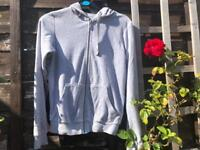 Grey simple jacket, size 10 UK