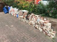Assorted bricks and rubble