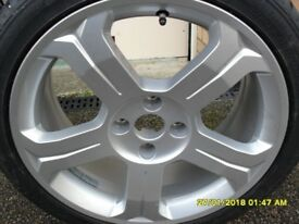 1 PEUGEOT 308 hdi allure 2011 ALLOY WHEEL & CONTINENTAL TYRE 225/4018 92y