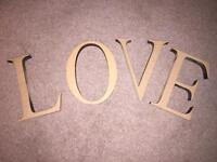 Wooden LOVE letters - wedding / home decor