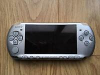 Sony PSP 3000 silver handheld console