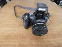 PANASONIC LUMIX DMC-FZ18 camera, charger, battery, SD card, case