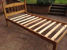 Single wooden bed frame it is in good condition and clean