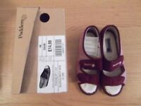 Padders slippers ladies size 5 (38), new and boxed labels attached burgundy mix