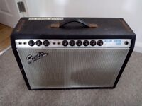 Vintage Fender Deluxe Reverb AB763 Silver Face to test and repair