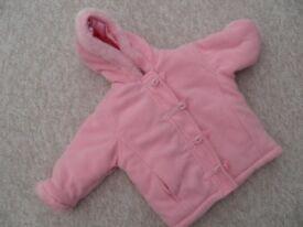 pink lined kids jacket