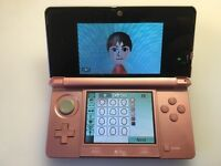 Nintendo 3DS Games Console + Charger - Metallic Pink - Good As New - Lovely Kids Childrens Toy
