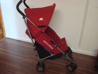 Maclaren Pushchair/stroller light weight Great holiday buggy Red