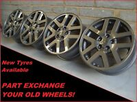"1516 Genuine 18"" Range Rover Sport, Discovery, VW Transporter T5 Alloy Wheels"