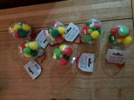 New Pompom baubles