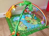 Play gym carousel mat playmat Fisher Price Rainforest for babies newborns