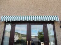 Manual Retractable Awning Green Stripe 3m x 2m green stripe