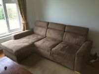 Corner Sofa with bed and storage