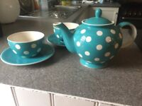 Polka dot Whittard tea set