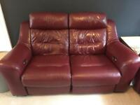 Leather recliners electric 2 x 2 seaters