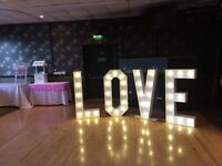 Illuminated 4ft LOVE letters (hire only) £100