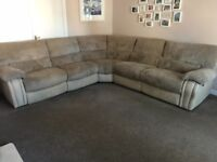 Beautiful Harvey's Corner Reclining Sofa - Only 1 years old