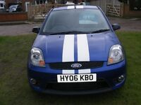 FORD FIESTA ST 2006 3 DOOR IN BLUE WITH WHITE STRIPES