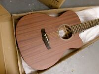 solid mahogany electro acoustic guitar