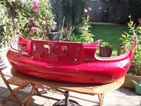 Mazda MX-5 Mk2 Bumper and boot lid - RED - free to collector