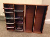 Handmade CD Storage Rack x 2 - holds 60 each