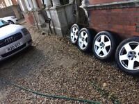 "Audi TT 16"" alloys set of 4 with new tyres"