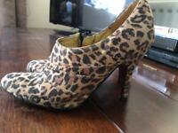 Faith leopard print heels