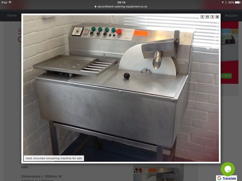 Chocolate Tempering Machine 30k For Making Chocolate In Newport Gumtree