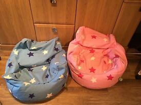 Blue & Pink Star Beanbags