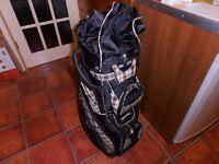 "A "" Slazenger "" Golf CART Bag, Burberry Patterned,"