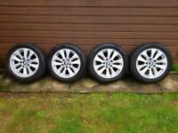 Bmw alloys 195 55 16 with tyres