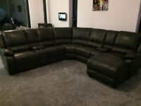 New grey recliner corner sofa