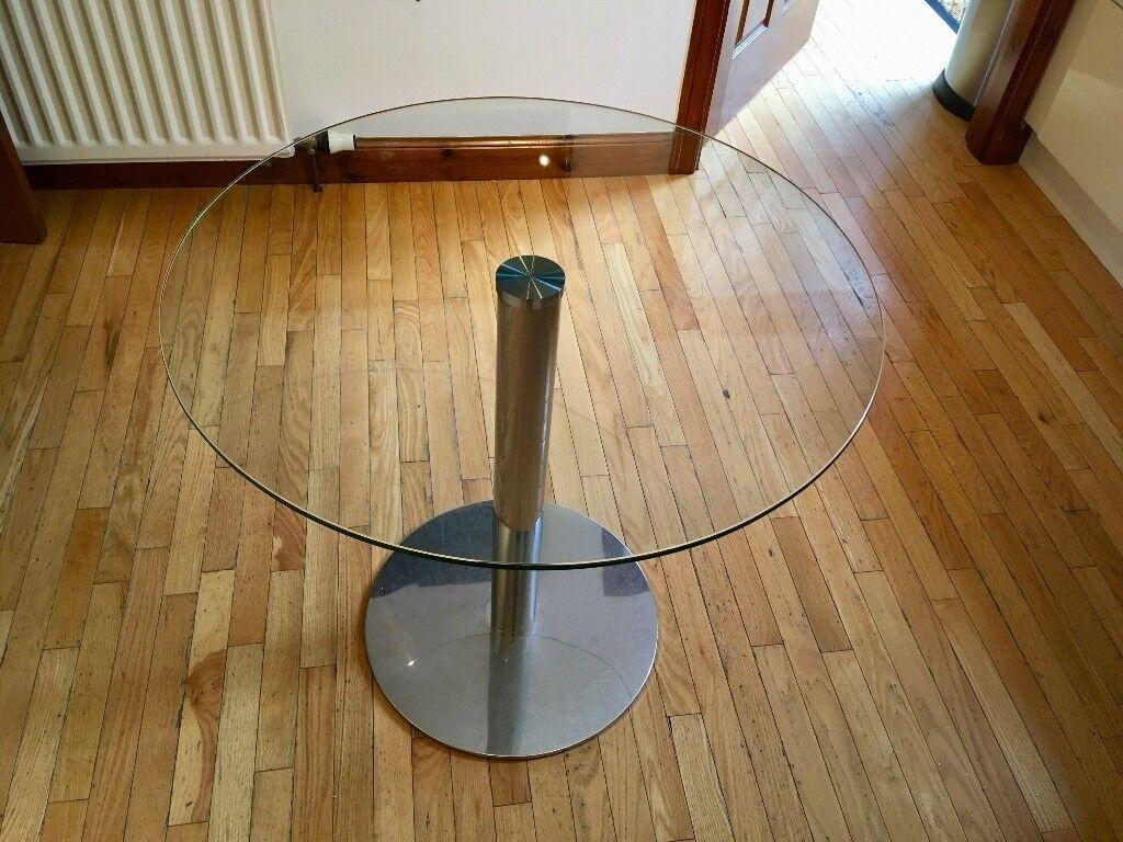 Table - round glass bistro table, 80cm, John Lewis | in Uddingston ...