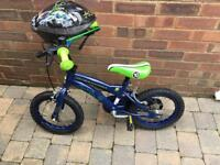 Boys Ben 10 bike aged 3-4 with helmet