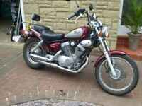 Yamaha Virago 250 cc colour red