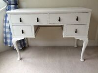 Beautiful vintage painted dressing table with four drawers - REDUCED TO £95 FOR QUICK SALE!