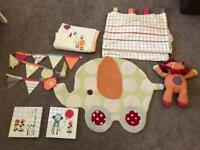Mama and papas jamboree nursery set
