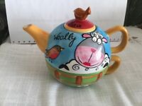 Teapot one cup made by Price & Kensington Pristine pottery