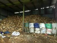 Seasoned hardwood logs for sale barn stored air dried free friendly delivery and stacking available