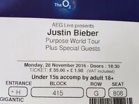 Justin bieber tickets x2 London O2