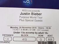 Justin bieber tickets x2 London O2