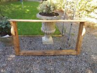Really lovely rustic mirror with shelf made from reclaimed wood.