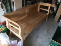 Solid Oak Bench