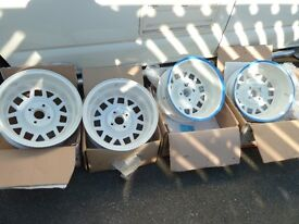 "VW 14"" Scala alloy wheels Alpine white/silver Mk1 golf/scirocco"