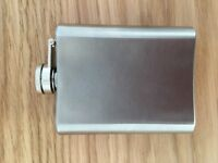 Hip Flask - Stainless Steel - Vintage