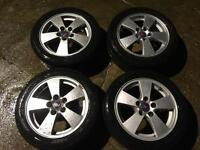 Saab Alloy Wheels With Tyres