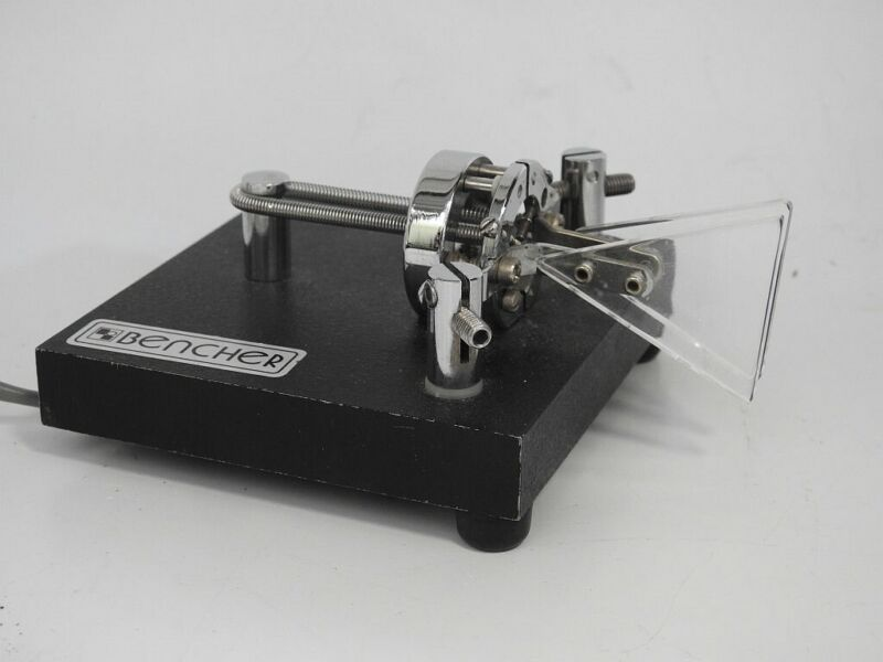LOOKS ALMOST UNUSED ORIGINAL BENCHER BY-1 ELECTRONIC KEYER PADDLES