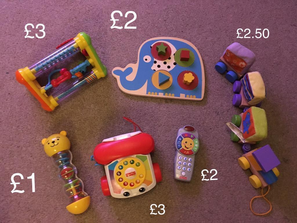 Various baby/ toddler toys