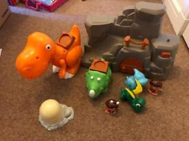 Dinosaur toddler play set