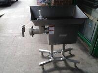 AMERICAN NELLA SIZE 32 3 PHASE ELECTRIC MEAT MINCER GRINDER MACHINE CAFE KEBAB RESTAURANT BUTCHER